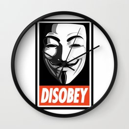 Guy Fawkes - Disobey Wall Clock