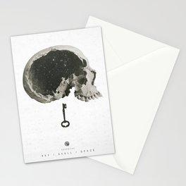 Skull and key Stationery Cards