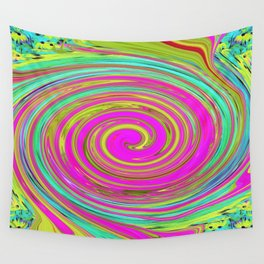 Groovy Abstract Pink Swirl Art 094 Wall Tapestry