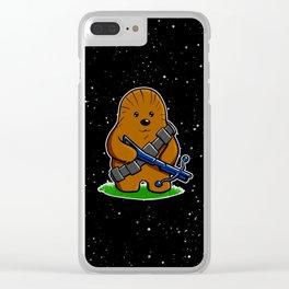 Galactic Teddy Bear Clear iPhone Case