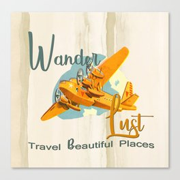 Wanderlust Adventure Canvas Print