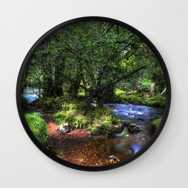 Quietly Flows The River Dart Wall Clock