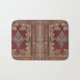 Tarnished Brass Book Cover Bath Mat