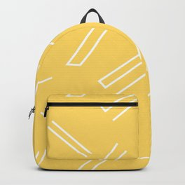 Yellow & White Abstract Lines Backpack