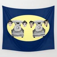 headphones Wall Tapestries featuring HeadPhones by Chris Talbot-Heindl