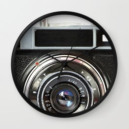 Vintage photo camera Wall Clock