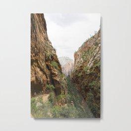 Angels Landing at Zion National Park Metal Print