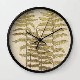 Vintage Fern Botanical Wall Clock