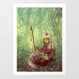 Pastel Pangolin Pals Art Print