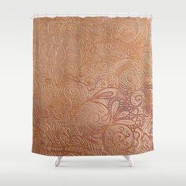 Floral copper Shower Curtain