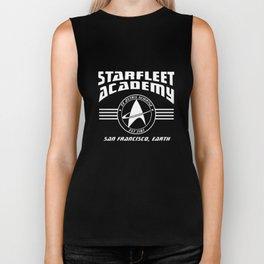 Starfleet Academy Star Trekkie Geek Fun Cool Quality Geek T-Shirts Biker Tank