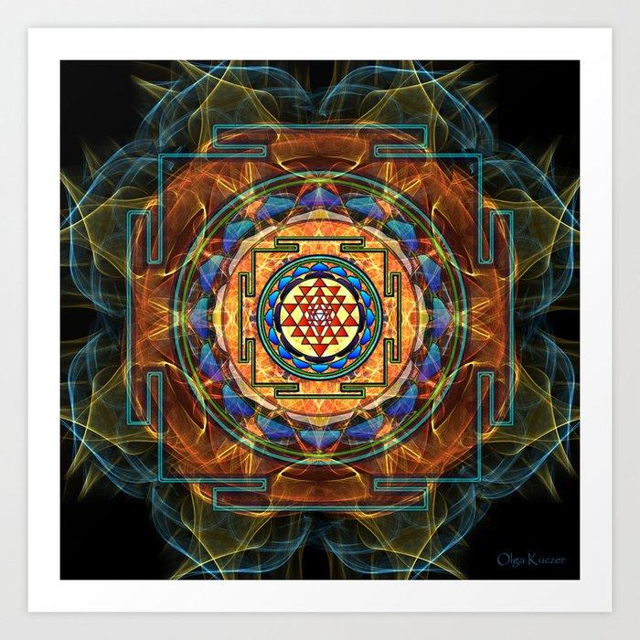 The Sri Yantra - Sacred Geometry Art Print