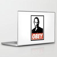 steve jobs Laptop & iPad Skins featuring Obey Steve Jobs by Royal Bros Art