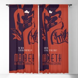 Retro Macbeth William Shakespeare Blackout Curtain