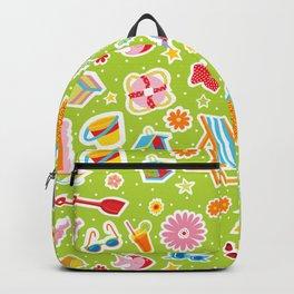 Summer Fun Green Backpack