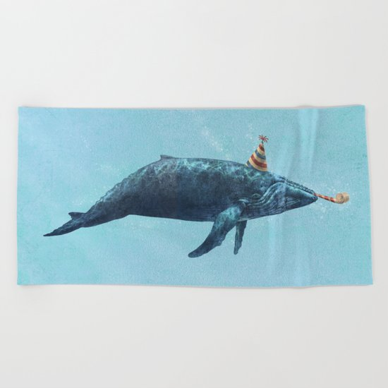 Party Whale  Beach Towel