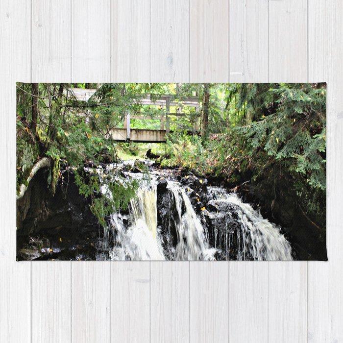 Bridge Over Waterfall Rug