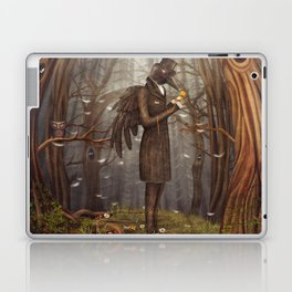 Raven in forest Laptop & iPad Skin