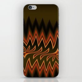 Fractal Tribal Art in Autumn iPhone Skin