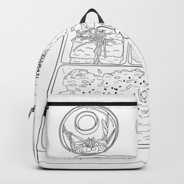 Japanese Bento Box - Line Art Backpack