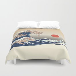 The Great Wave of Chihuahua Duvet Cover