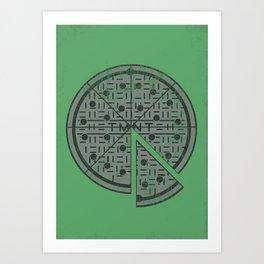 Slice of sewer life Art Print