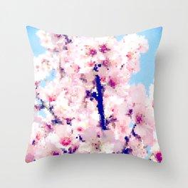 Almond Blossom IV Throw Pillow