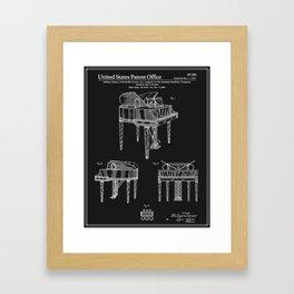 Piano Patent - Black Framed Art Print