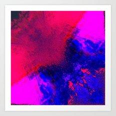 02-14-36 (Red Blue Glitch) Art Print