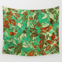 holiday Wall Tapestries featuring Holiday 2 by Klara Acel
