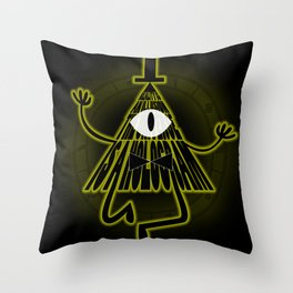 Bill Cipher, Reality is an illusion Throw Pillow