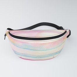 Colorful Watercolor Stripes Fanny Pack