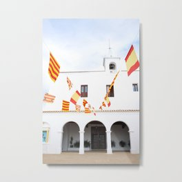 Spanish Church, Ibiza, Spain - Wall Art Photo Print Metal Print