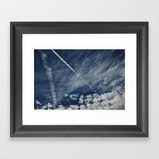 Sapphire Sky Framed Art Print