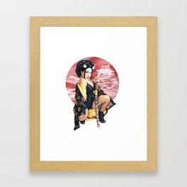 GEISHA WARRIOR Framed Art Print