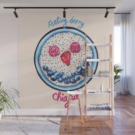 Food Pun - Feeling Berry Chiaful Wall Mural