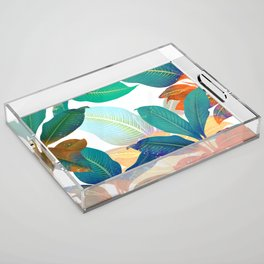 color leaves Acrylic Tray