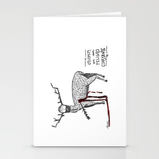 Vivimos en un peligro constante (We live in a constant danger) Stationery Cards
