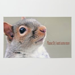 Oliver Twist Squirrel Rug
