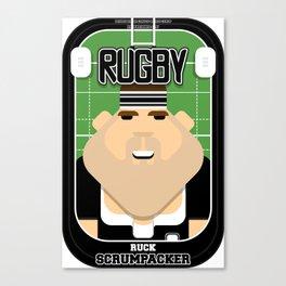 Rugby Black - Ruck Scrumpacker - Bob version Canvas Print