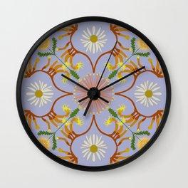 Banksia mandala Wall Clock