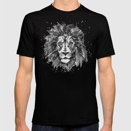 Black and White Lion Head T-shirt