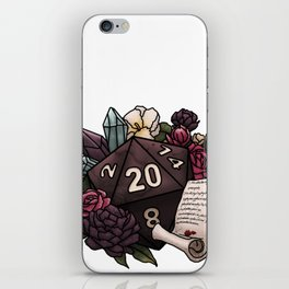 Warlock Class D20 - Tabletop Gaming Dice iPhone Skin