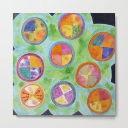 Mixed Colorful Colors in Circles Metal Print