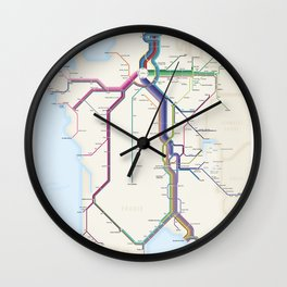 Itinéraires de train à grande vitesse de la France Wall Clock