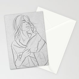"""Heart """"one line"""" Stationery Cards"""