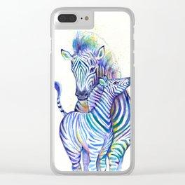 Zippy Zebras Clear iPhone Case