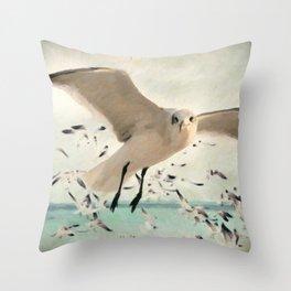 Flight of the Gulls Throw Pillow