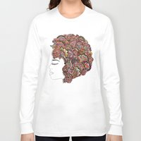 les mis Long Sleeve T-shirts featuring Her Hair - Les Fleur Edition by Bianca Green