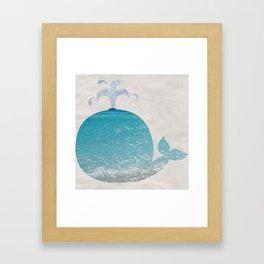 beach whale Framed Art Print